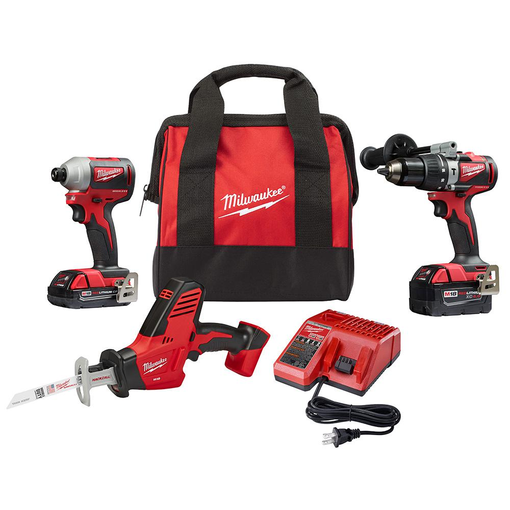 Milwaukee M18 18-Volt Lithium-Ion Brushless Cordless Hammer Drill/Impact Combo Kit (2-Tool) with Free M18 HACKZALL