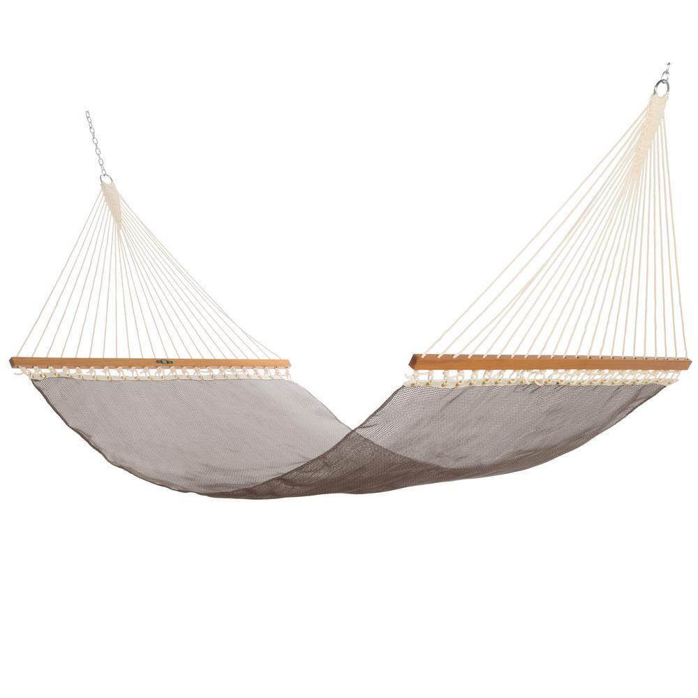 Click here to buy  13 ft. Large Sunbrella Textilene Hammock in Framework Bronze.