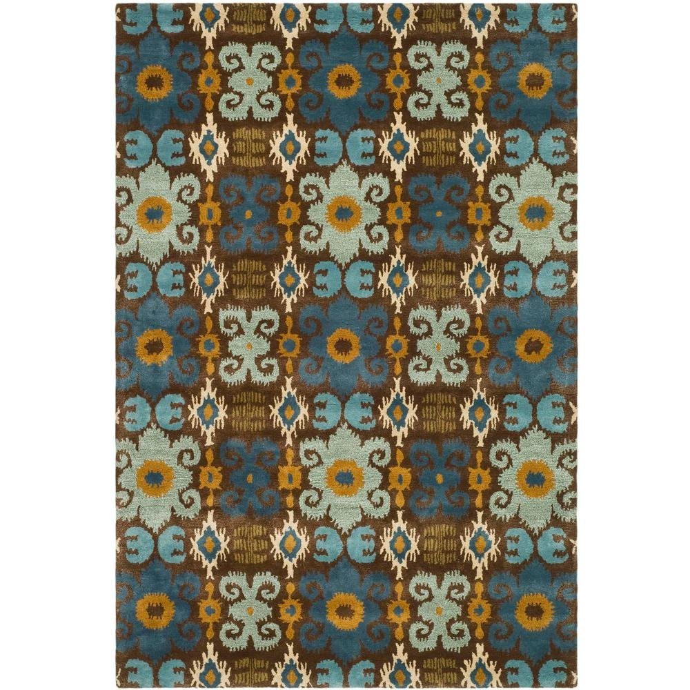 Safavieh Soho Brown/Blue 5 ft. x 8 ft. Area Rug