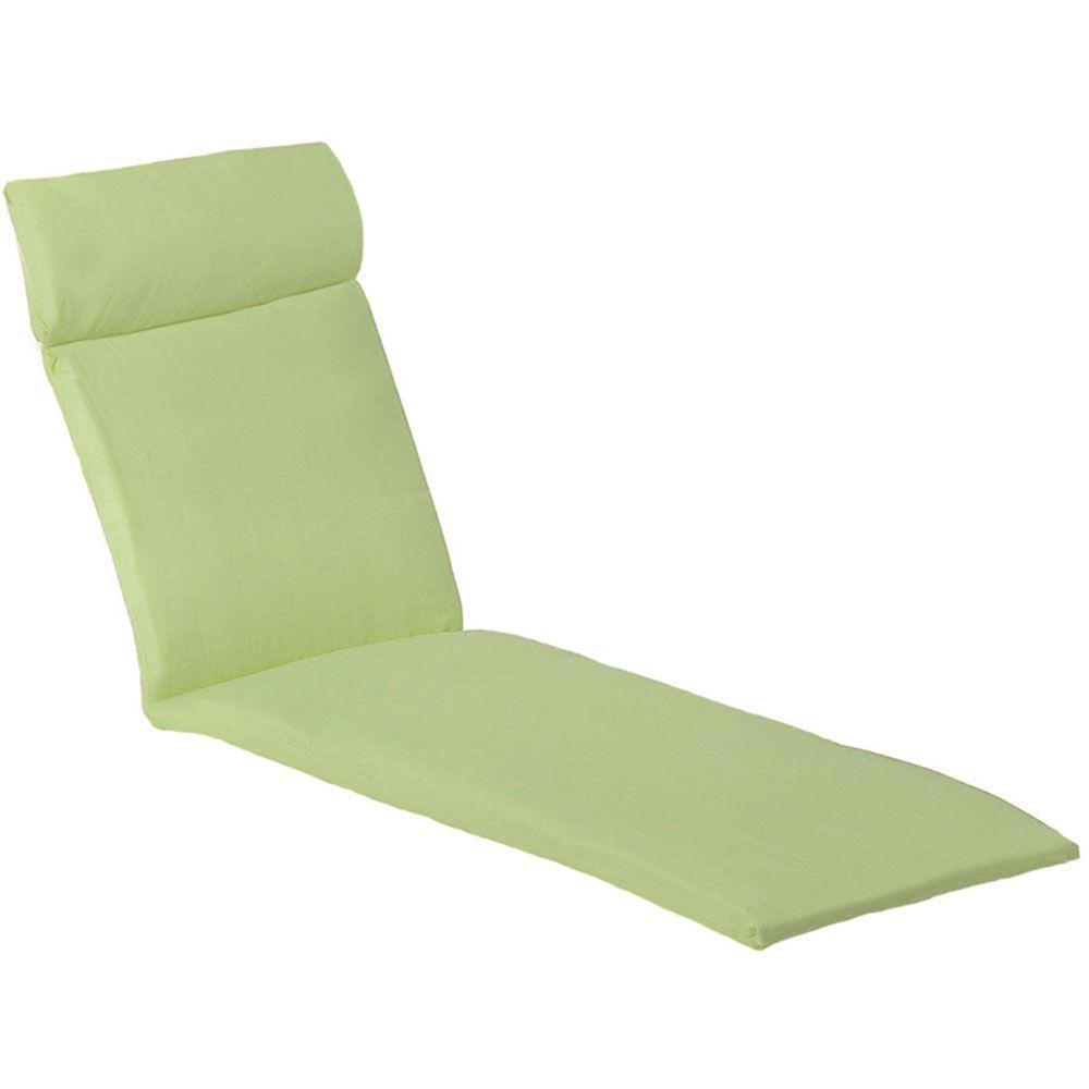 Orleans Avocado Green Patio Chaise Lounge Cushion