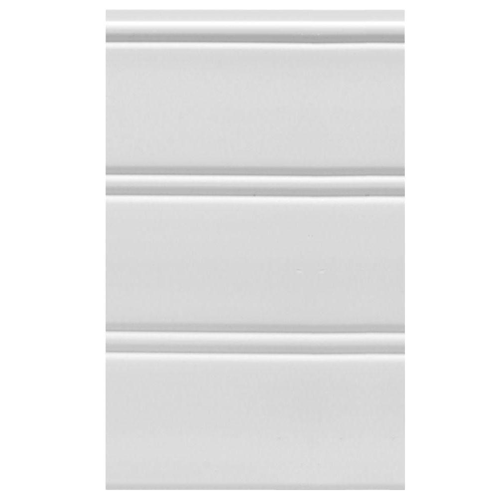 House of Fara W96WP 12 sq. ft. White Vinyl Reversible Interior/Exterior Paneling (3-Piece Per Pack)
