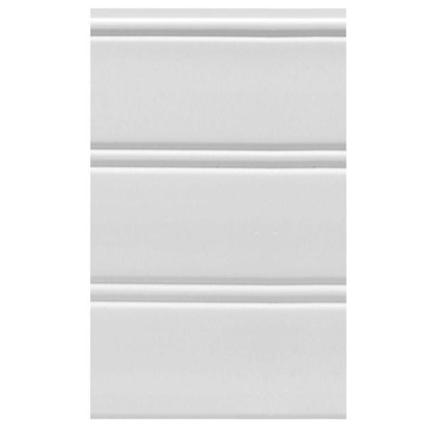 House Of Fara W96wp 12 Sq Ft White Vinyl Reversible Interior Exterior Paneling 3 Piece Per Pack W96wp The Home Depot
