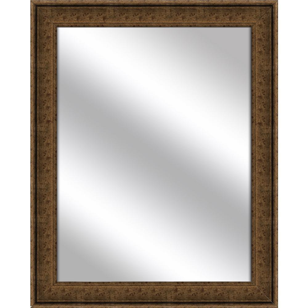 25.5 x 31.5 Framed Mirror in Dark Gold