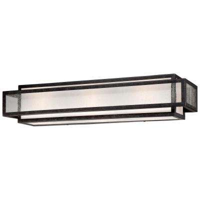 Camden Square 3-Light Aged Charcoal Bath and Vanity Light