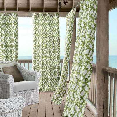 Marin 50 in. W x 108 in. L Polyester Indoor/Outdoor Single Window Curtain Panel in Green