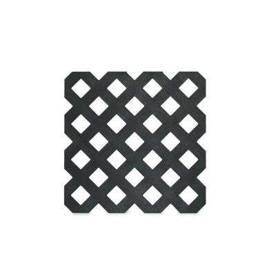 0.125 in. x 48 in. x 8 ft. Black Privacy Plastic Lattice (2 -Pack)