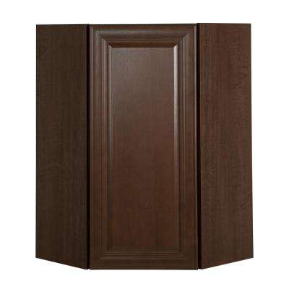 Benton Assembled 24x36x12.62 in. Corner Wall Cabinet in Butterscotch