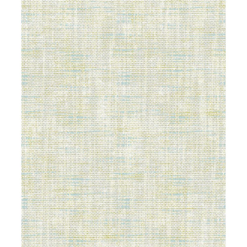 57.8 sq. ft. Leah Teal Texture Wallpaper