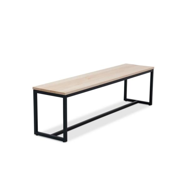 Port Black and Maple 60 in. Bench