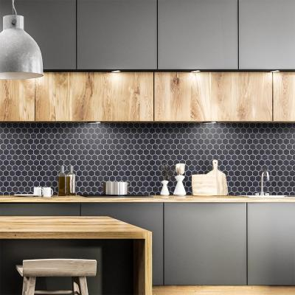 Black Tile Backsplashes Tile The Home Depot