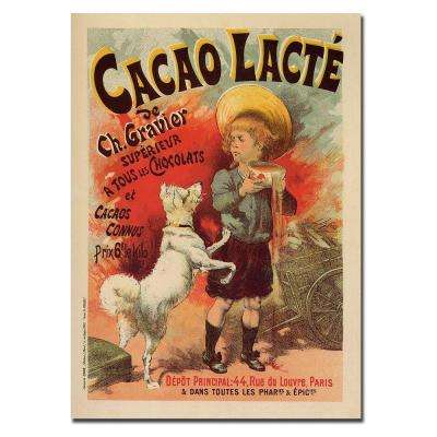 24 in. x 32 in. Cacao Lacte Canvas Art