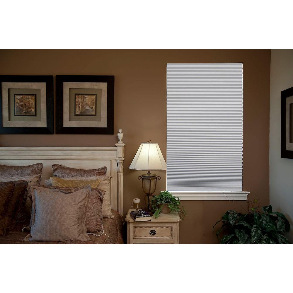 Redi Shade Trim-at-Home Easy Lift White 9/16 in. Cordless Blackout Cellular Shade - 48 in. W x 64 in. L