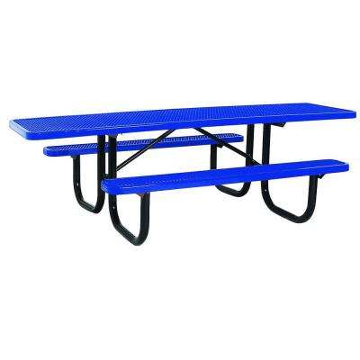 Portable 8 ft. Blue Diamond Commercial ADA Rectangular Table