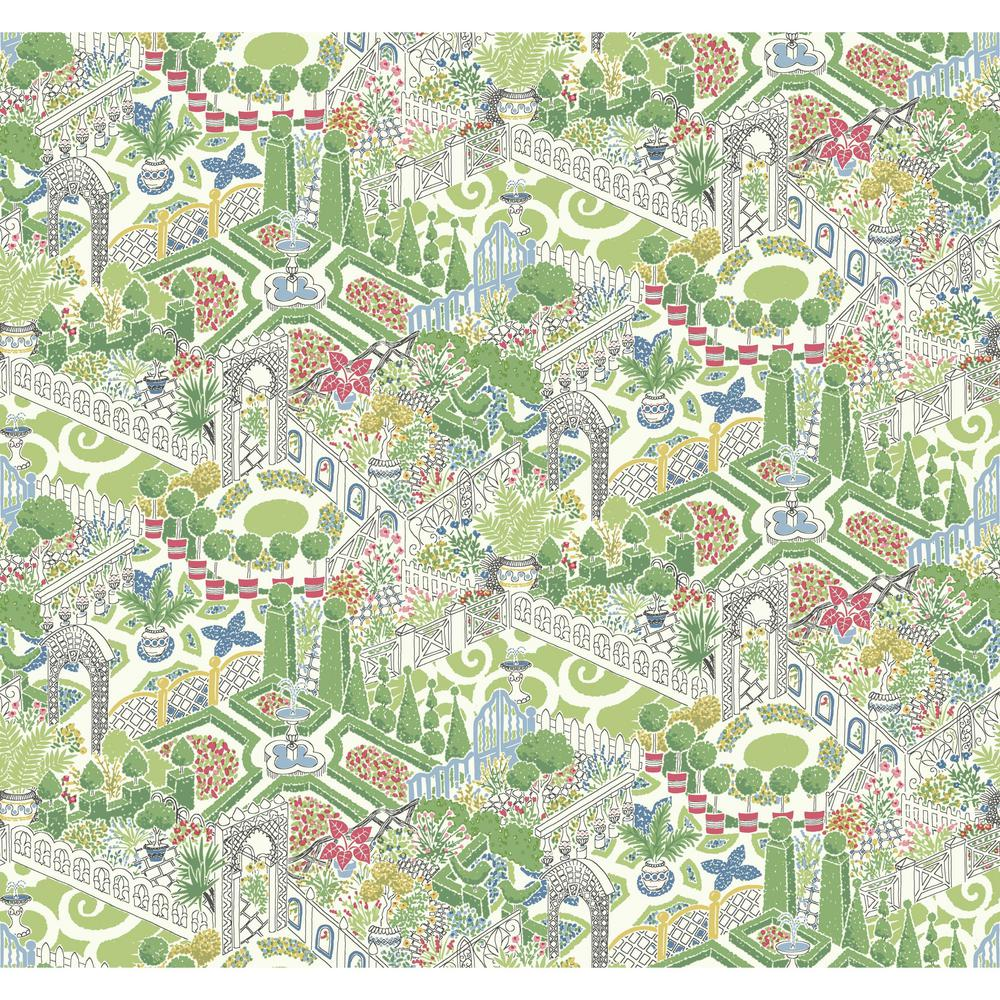 York Wallcoverings Waverly How Does Your Garden Wallpaper-GP5932 ...