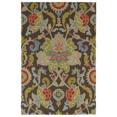 Home and Porch Chocolate 9 ft. x 12 ft. Indoor/Outdoor Area Rug