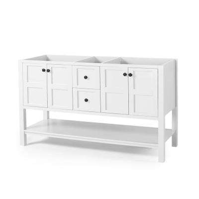 Jaeden 60 in. W x 22 in. D Bath Vanity Cabinet Only in White