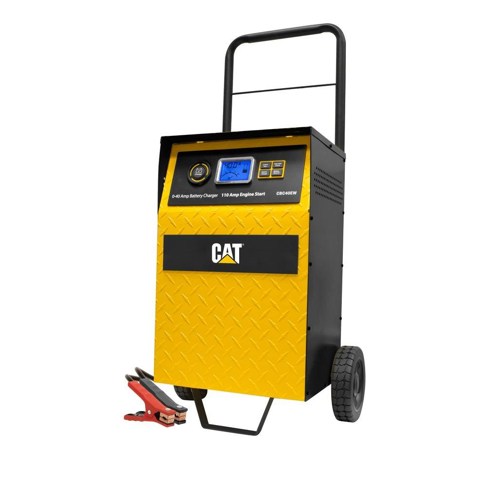 Cat 40 Amp Wheel Charger With 110 Engine Start Cbc40ew The 12v 6v Battery Auto Cut Off Circuit Diagram