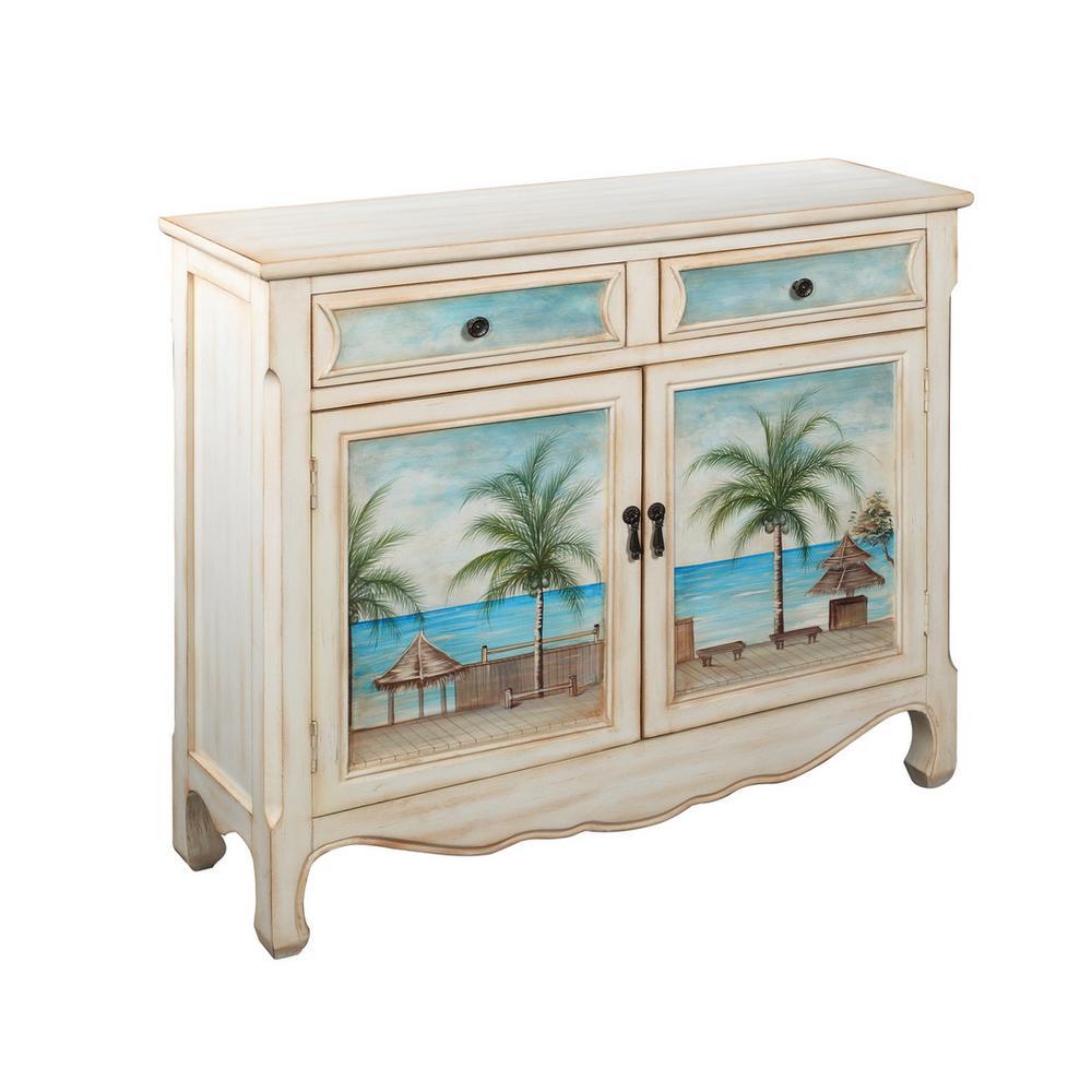 Key Largo Seaview 2-Drawer 2-Door Cupboard