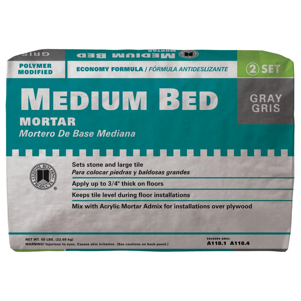 Custom Building Products Medium Bed Gray 50 lb. Mortar