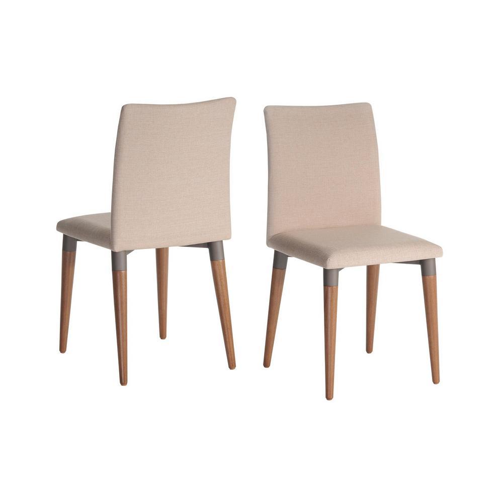 Charles 2-Piece Dark Beige Dining Chair
