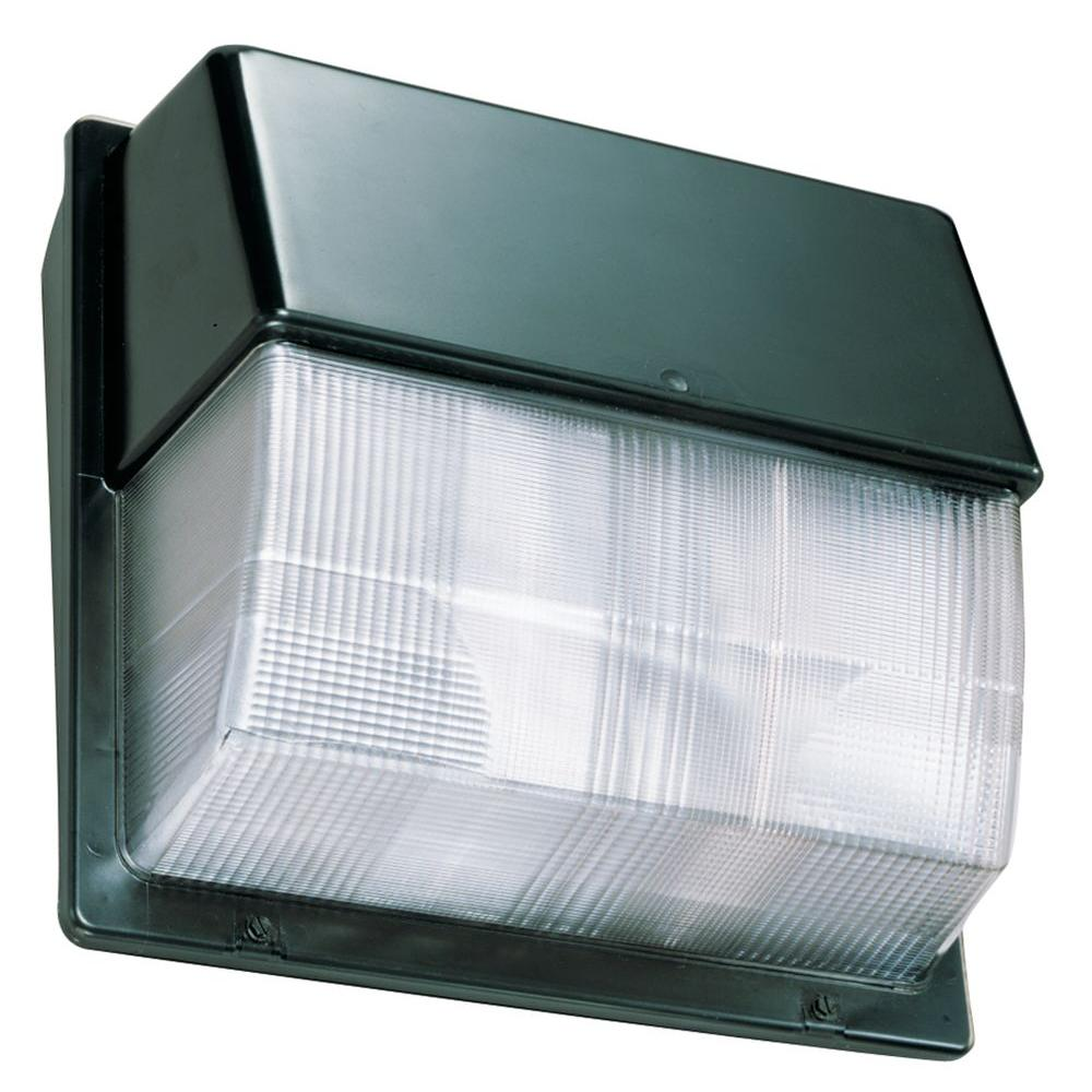 Lithonia Lighting 26-Watt LED Bronze Wall Pack with Polycarbonate Lens