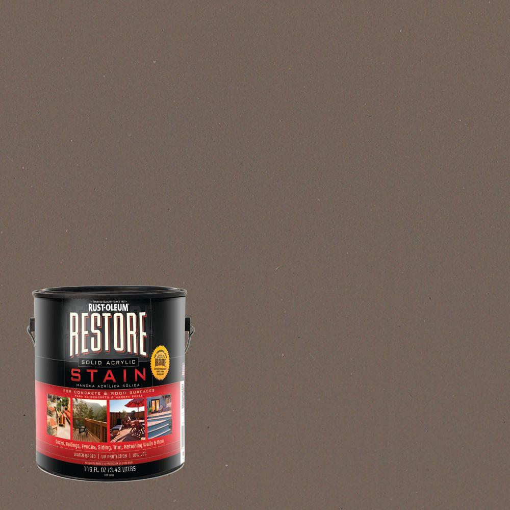Rust-Oleum Restore 1 gal. Solid Acrylic Water Based Winchester Exterior Stain
