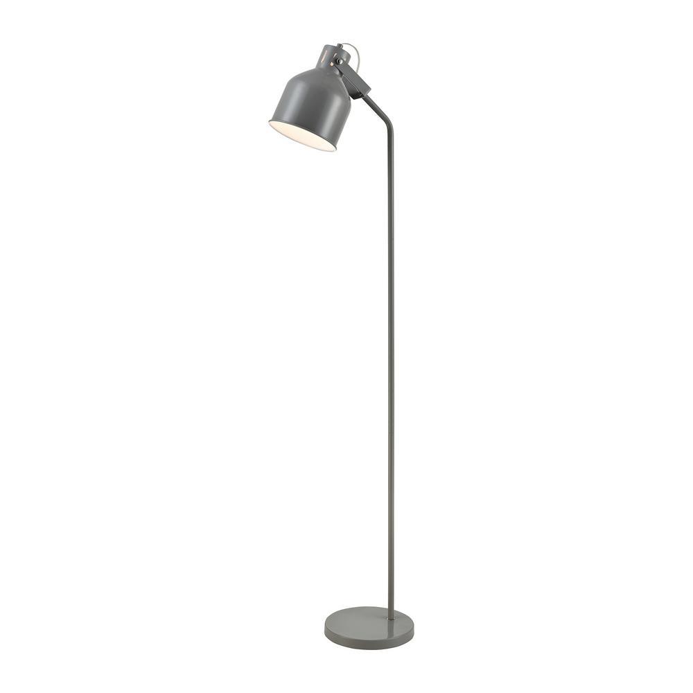 Titan Lighting Envoy 59 in. Light Gray Floor Lamp