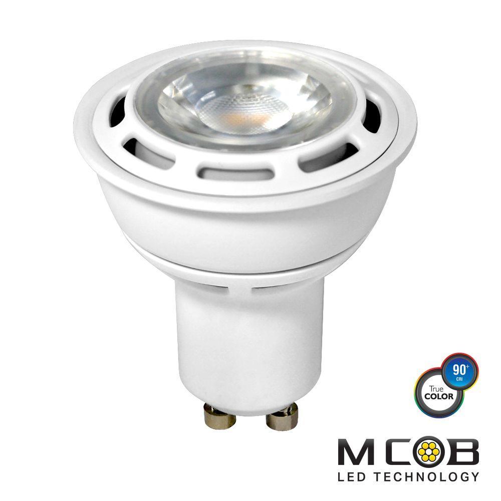 50W Equivalent Warm White (2700K) PAR16 Dimmable MCOB LED Flood Light Bulb