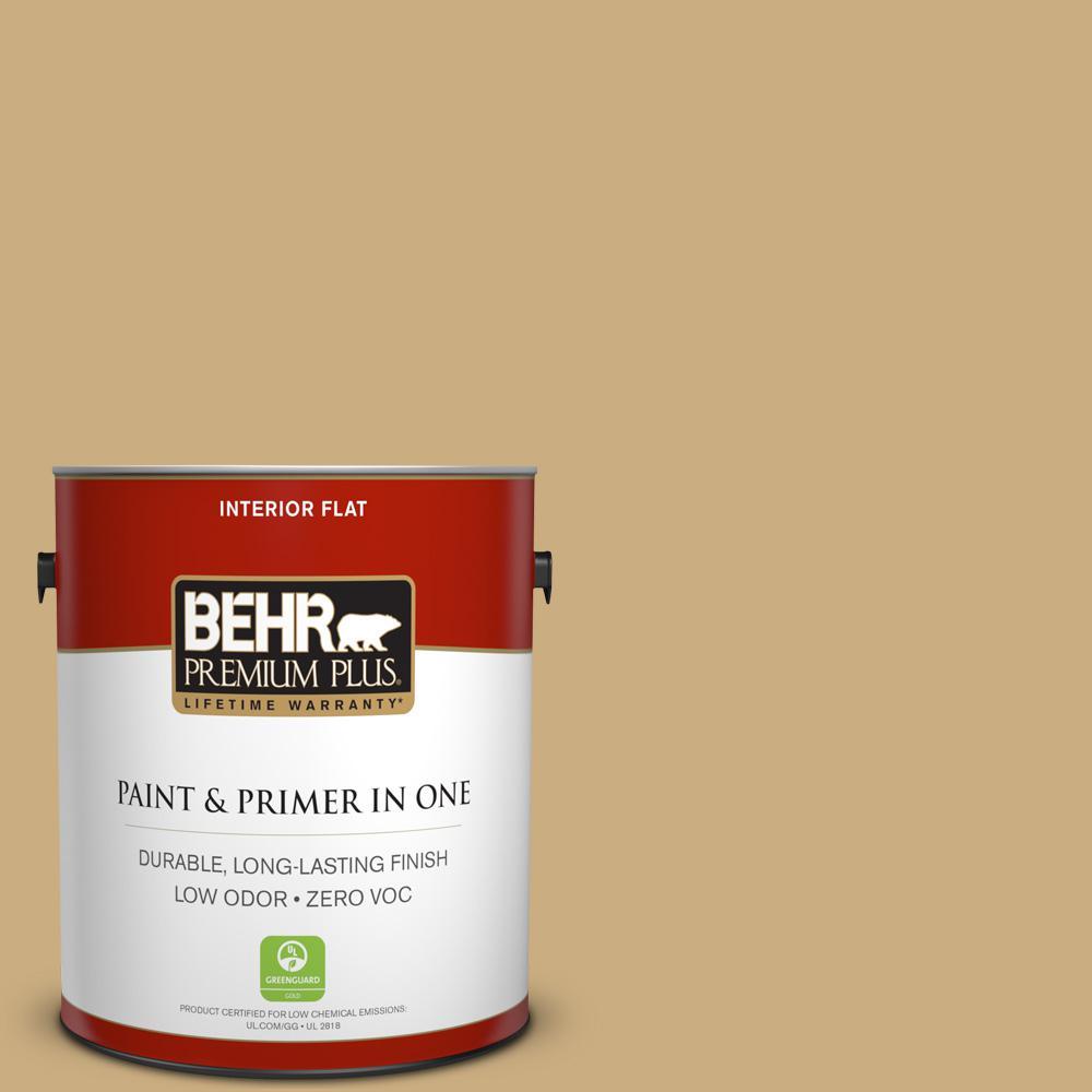 BEHR Premium Plus 1-gal. #S310-4 Perennial Gold Flat Interior Paint