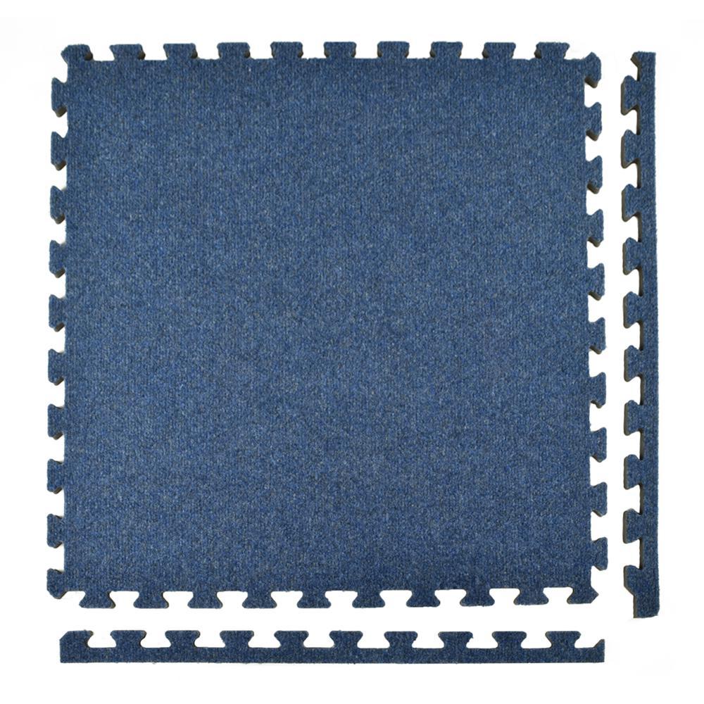 royal carpet blue velour plush