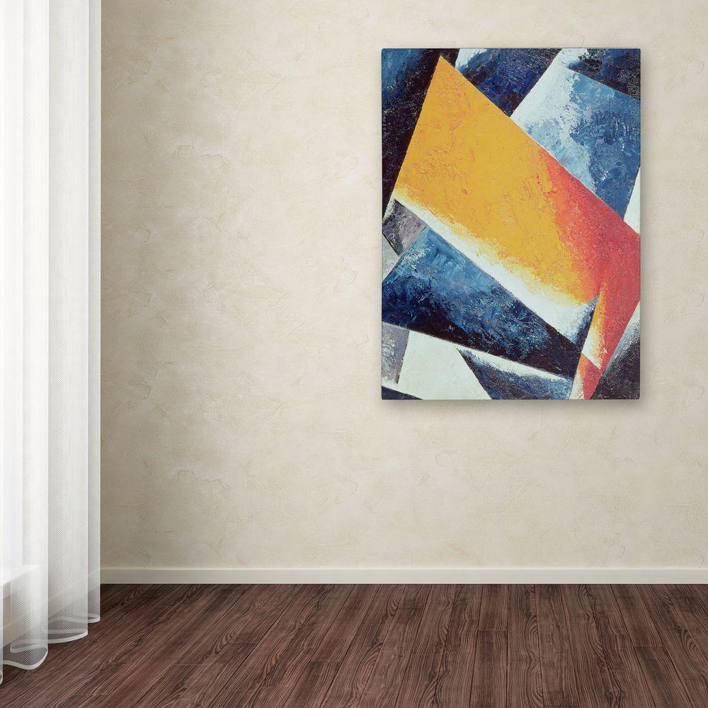 24 in. x 18 in. Architectonic Composition Canvas Art