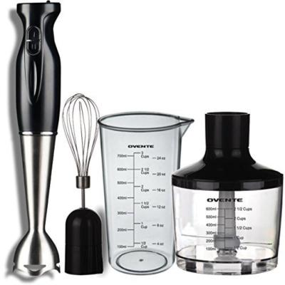 Multi-Purpose Immersion Hand Blender Set 300-Watt, Stainless Steel Blades, Includes Attachments, 2-Speed Settings