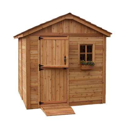 8 ft. x 8 ft. Western Red Cedar Gardener Shed