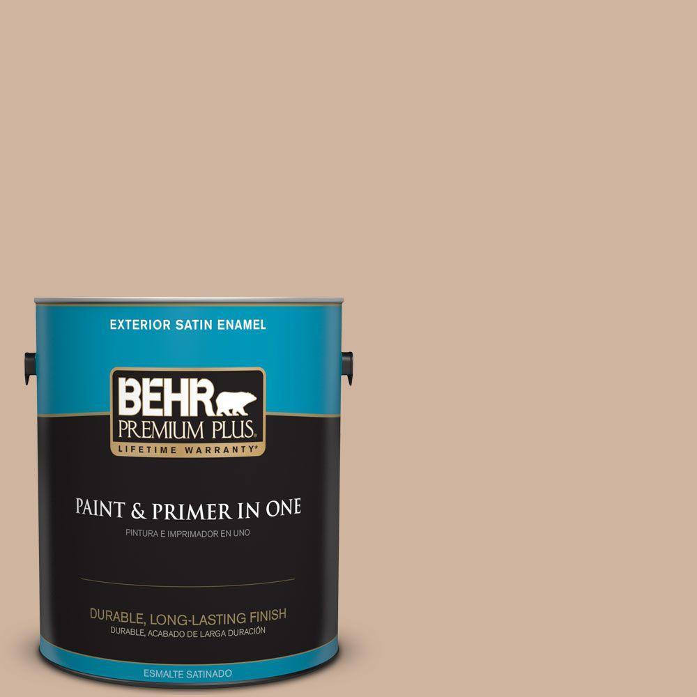 1-gal. #BNC-01 Bauhaus Buff Satin Enamel Exterior Paint
