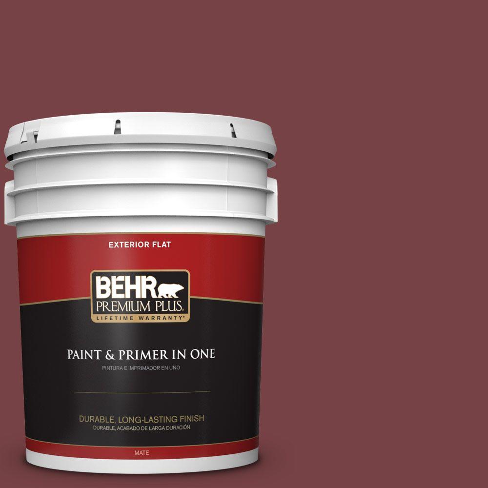 BEHR Premium Plus 5-gal. #150F-7 Burnt Tile Flat Exterior...