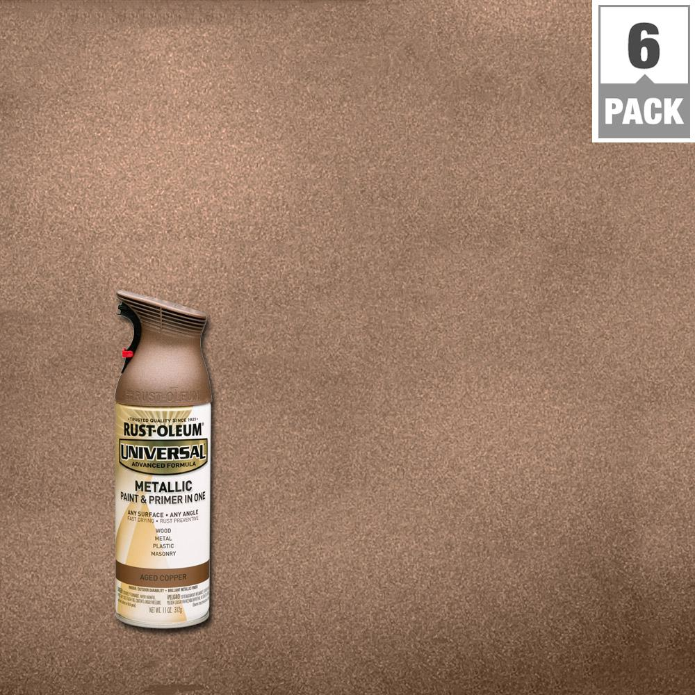 Rust-Oleum Universal 11 oz. All Surface Metallic Aged Copper Spray Paint and Primer in One (6-Pack)