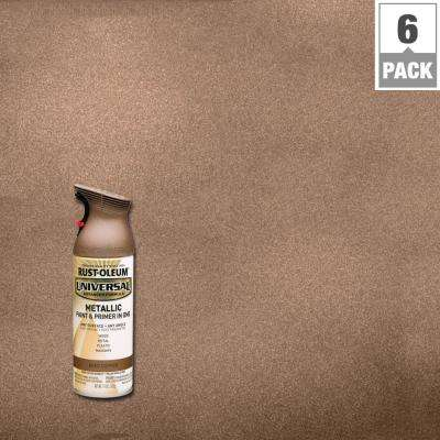 11 oz. All Surface Aged Copper Metallic Spray Paint and primer in 1 (6-Pack)