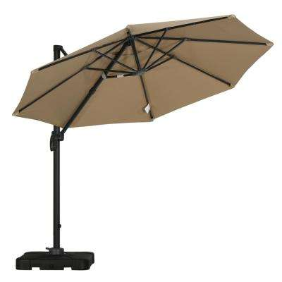 Durango 9-1/2 ft. Cantilever Patio Umbrella in Taupe