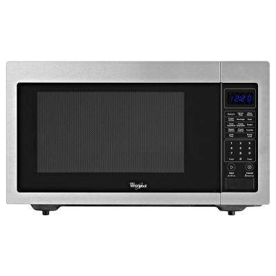 1.6 cu. ft. Countertop Microwave in Stainless Steel, Built-In Capable with Sensor Cooking