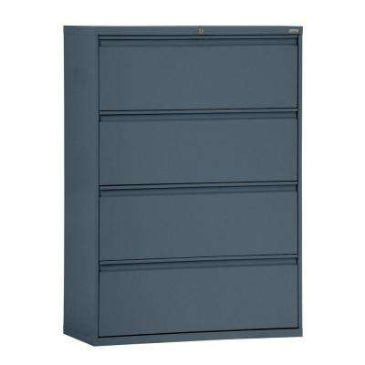 800 Series 36 in. W 4-Drawer Full Pull Lateral File Cabinet in Charcoal