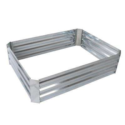 35.5 in. x 47.5 in. Silver Raised Garden Bed