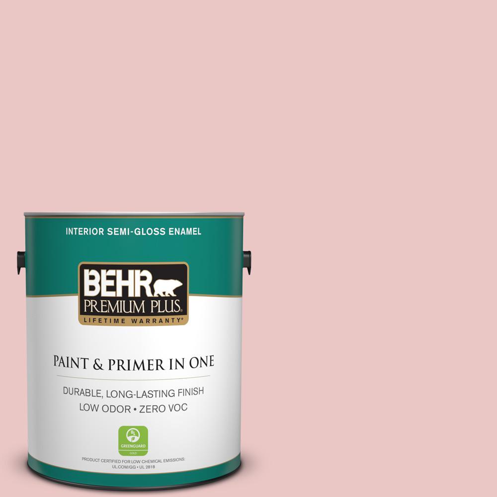 1-gal. #150E-2 Kashmir Pink Zero VOC Semi-Gloss Enamel Interior Paint
