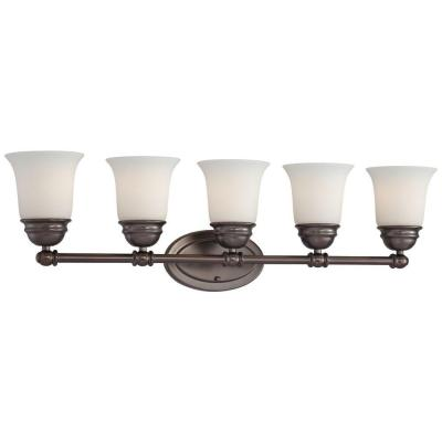 Bella 5-Light Oiled Bronze Bath Light