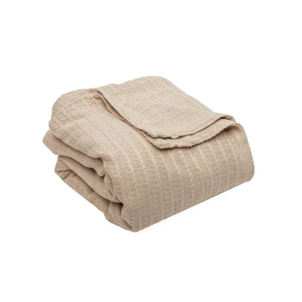 HOME MAISON Layla Cotton King Throw Blanket In Linen LADLN=6 /15049