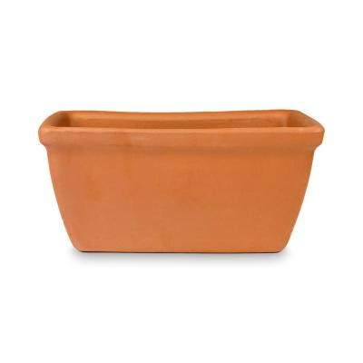 12.99 in. x 5.5 in. Terra Cotta Clay Window Box