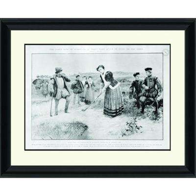 24.in x 30.in''Early Days of Sport'' By PTM Images Framed Printed Wall Art