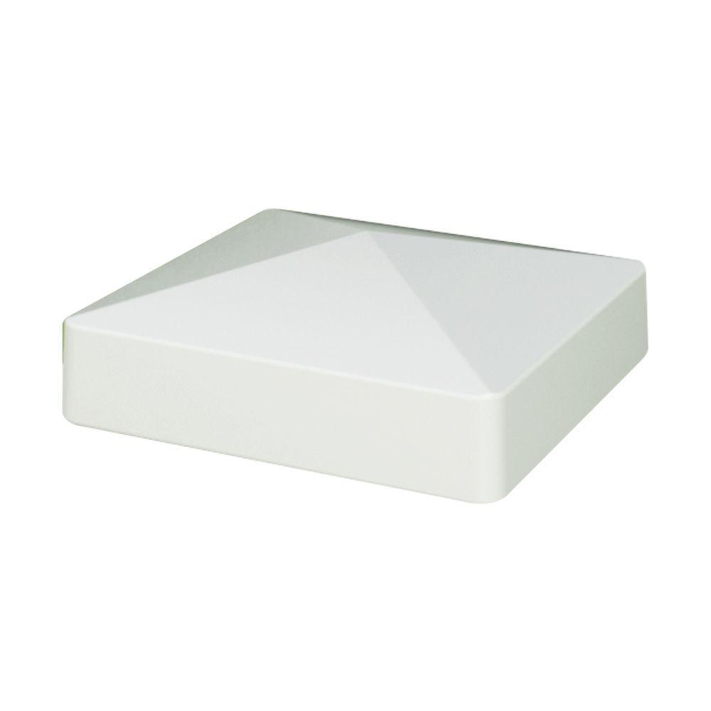 VINYL FENCE POST CAP White Vinyl Post Caps 5 Inch PYRAMID STYLE