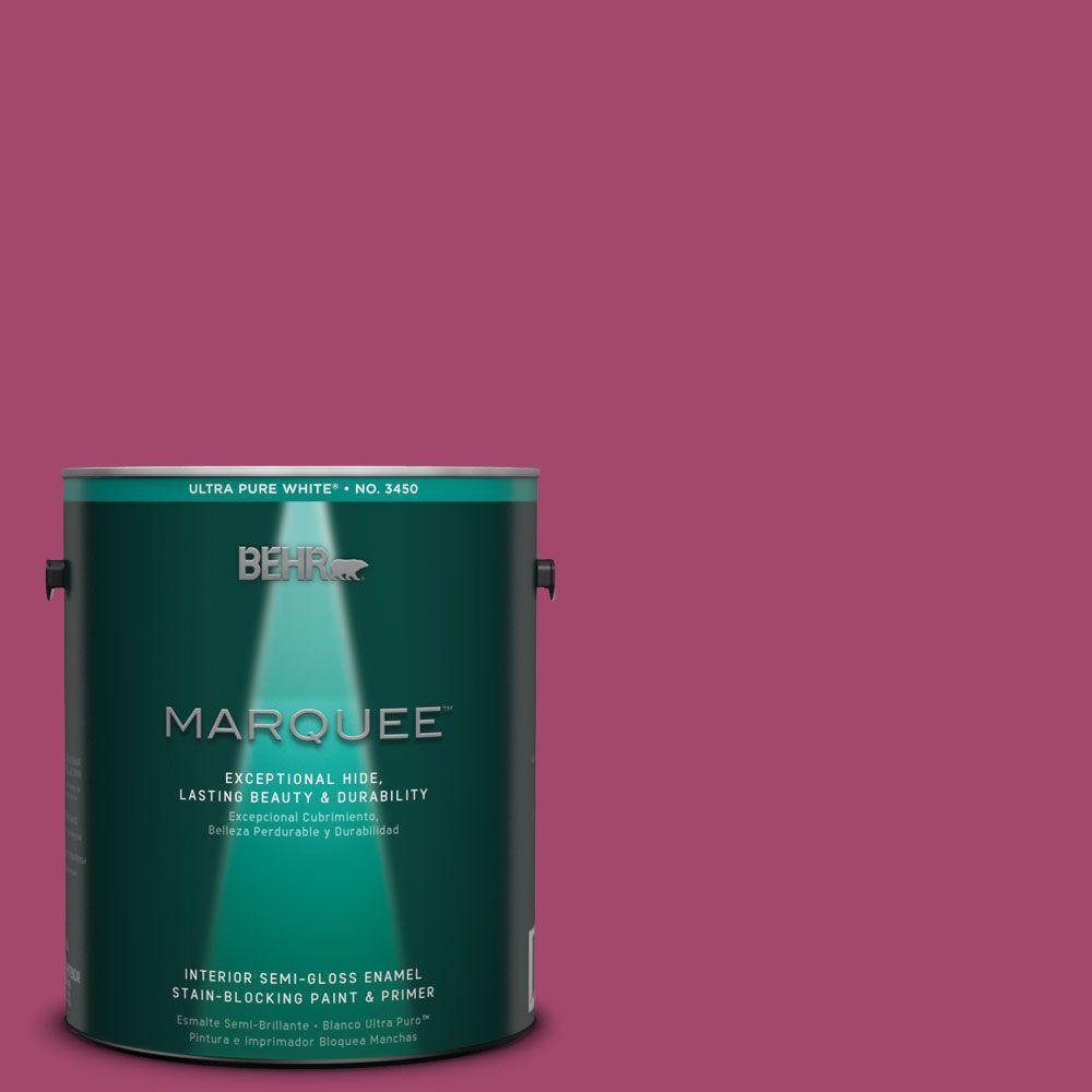 BEHR MARQUEE 1-gal. #HDC-SM14-1 Fuschia Flair Semi-Gloss Enamel Interior Paint