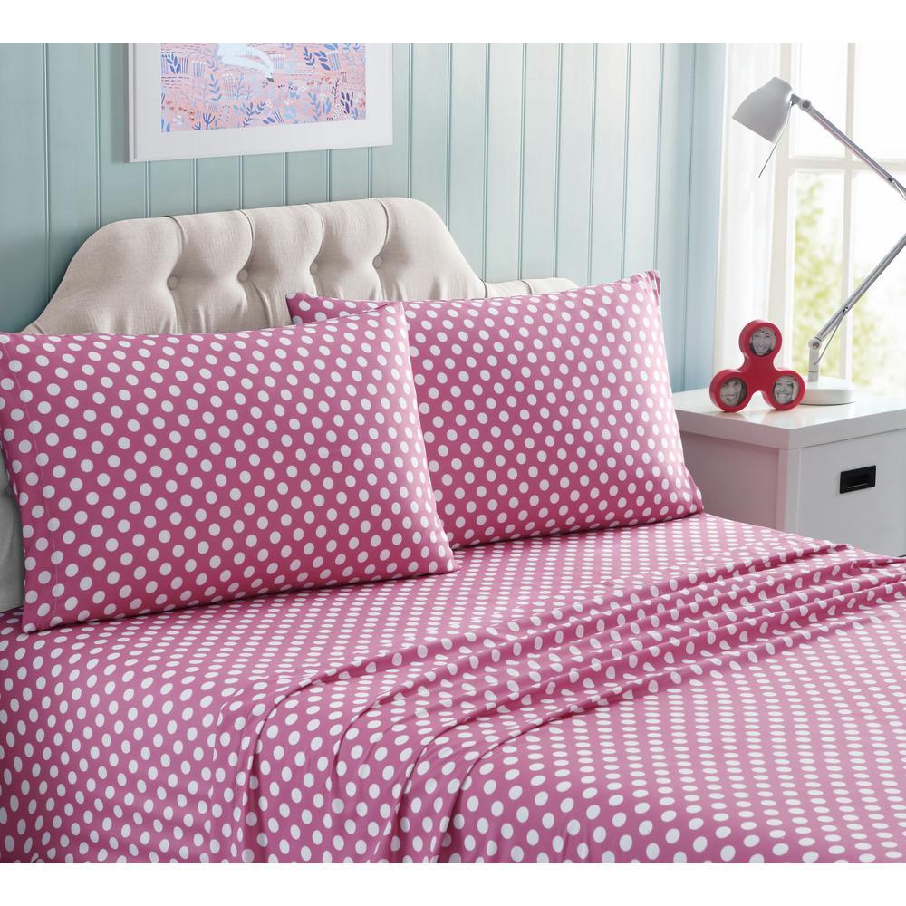 4-Piece Minnie Polka Dot Full Sheet Set
