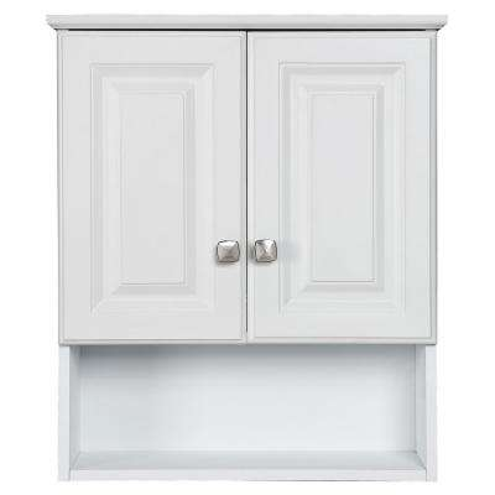 Wyndham 22 in. W x 26 in. H x 8 in. D Bathroom Storage Wall Cabinet with Shelf in White Semi-Gloss